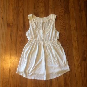 Old Navy Tops - White cotton sleeveless v-neck maternity top