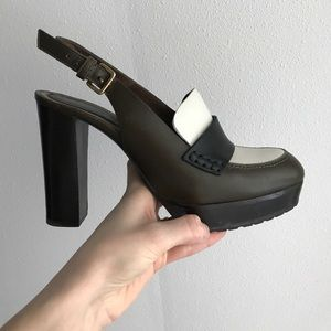 MARNI sling back block heel pumps