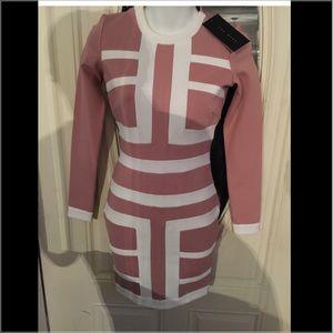 Pink /white dress
