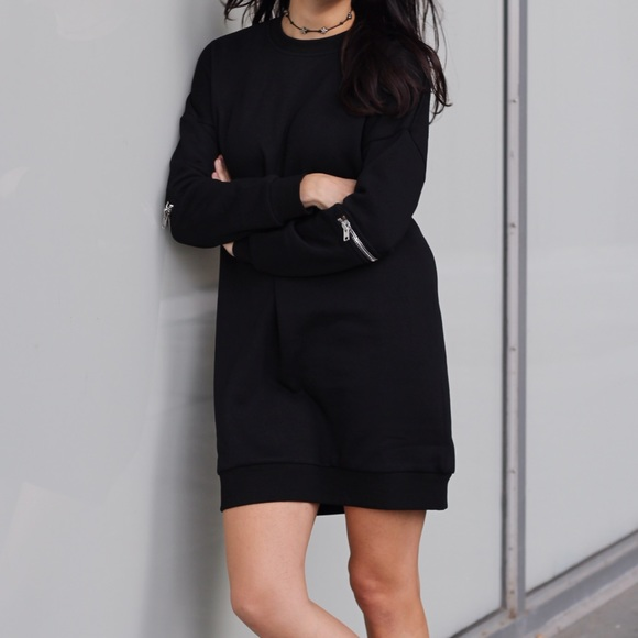 Tobi Dresses - TOBI sweatshirt dress with zippers in elbows.