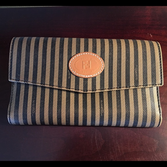 Handbags - Vintage Fendi Wallet Stripes Roma Rome Italy 98548d3682d26