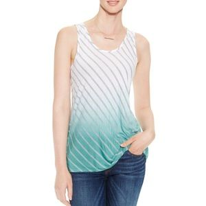 Vince Camuto Stiped Dip-Dyed Flowy Tank Top NWT