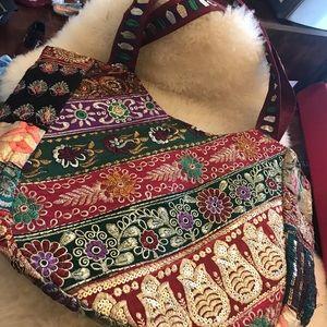 Satya Jewelry Handbags - Brocade hand work and beautiful sequin