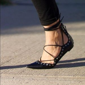 Zara Shoes - Zara lace-up flats