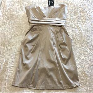 Mystic Dresses & Skirts - NWT ❤ Strapless Pleated Mini Sheath Dress SZ M