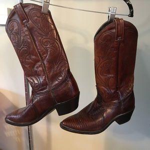 Dan Post Shoes - DAN POST Brown genuine leather & lizard