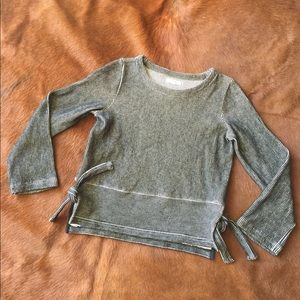 Madewell thick rib knit top with side ties
