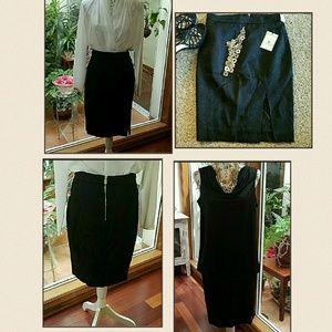 Altuzarra Dresses & Skirts - Price drop! Black pencil skirt, textured, NWT