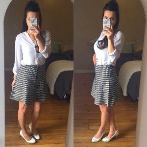 XOXO Dresses & Skirts - Black & White Front Zipper Houndstooth Skirt