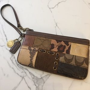 Coach Handbags - Coach Mixed Media Wristlet