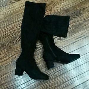 Bamboo  Shoes - Bamboo black over the knee boots