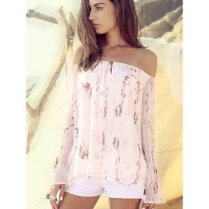 ASTARS Tops - TOASTED SHOULDERS FLYAWAY TOP