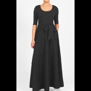 eshakti Dresses & Skirts - New Eshakti Black Fit & Flare Maxi Dress L 12