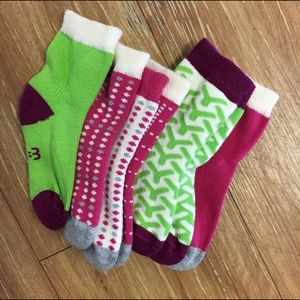 Other - NWOT 12-24 mo Mix & Match Socks Pink Green Gray