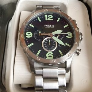 Fossil Other - NWT Fossil Silver Stainless Steel and Navy Watch