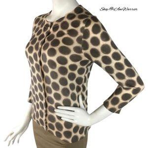 LOFT Sweaters - Ann Taylor loft cotton circle/dot cardigan