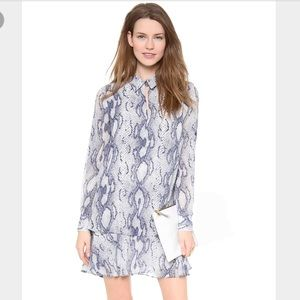 Rachel Zoe Sharona shirt dress blue