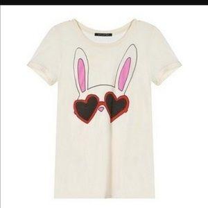Wildfox bunny baby tee
