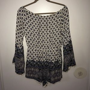 Dresses & Skirts - Off the shoulder patterned romper