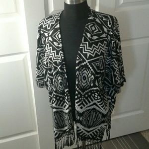 delicious Jackets & Blazers - Kimono style shirt with lace fringe -Never Worn!