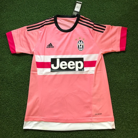 huge discount 2c7fc 35f41 Pink Juventus Soccer Jersey Short Sleeve 2015/16 NWT