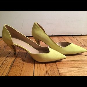 Zara yellow suede pump