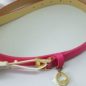 NWT Kate Spade belt Leather Hot pink ❄host pick!❄
