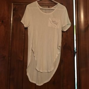 PacSun Tops - NWT White High Low Shirt