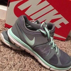 Gray and Mint Green Flex 2014 Run Nike's!