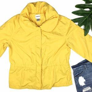 Chico's Jackets & Blazers - Chico's Yellow 3/4 Sleeves Windbreaker