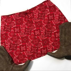 Zoey Beth Plus Pants - ✨SALE✨Zoey & Beth Bandana Fabric Skort Size 3X