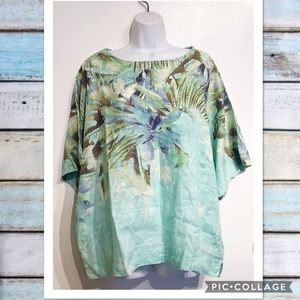 Chico's Tops - NWT Chicos Floral Linen Oversized Top