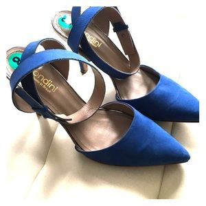 Biondini Shoes - Biondini ankle strap pointed blue heels