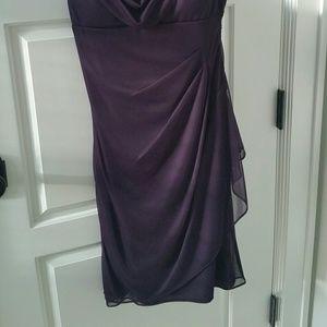 Xscape Dresses - Xscape plum eggplant cocktail dress