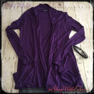 PattyBoutik Sweaters - NWOT PATTYBOUTIK PURPLE OPEN FRONT CARDIGAN 💜