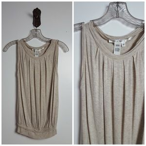 Max Studio Tops - Max Studio Heathered Cream Tank