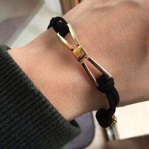 J. Crew Jewelry - 🖤💗 Black & Gold Bow Detail Bracelet