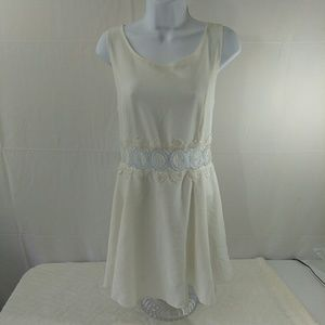 Divided Dresses & Skirts - ❤ H&M Divided White Dress with Lace Accents EUC