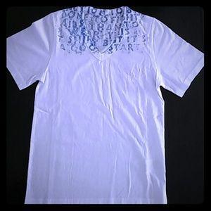Maison Martin Margiela Tops - Maison Martin Margiela AIDS Message V-neck T-shirt
