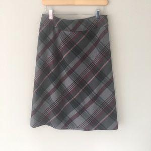 Ann Taylor Classic Plaid Skirt