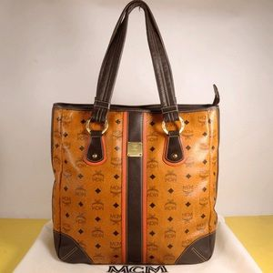 MCM Handbags - MCM Visetos Large Shopper Shoulder Bag
