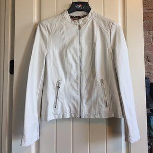 Black Rivet Jackets & Blazers - 🎉PRICE DROP🎉 White Leather Jacket