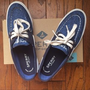 Sperry Shoes - Sperry top-sider navy canvas shoes