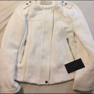 Zara white zip up jacket