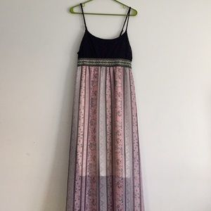 Long dress and ankle boots maurices