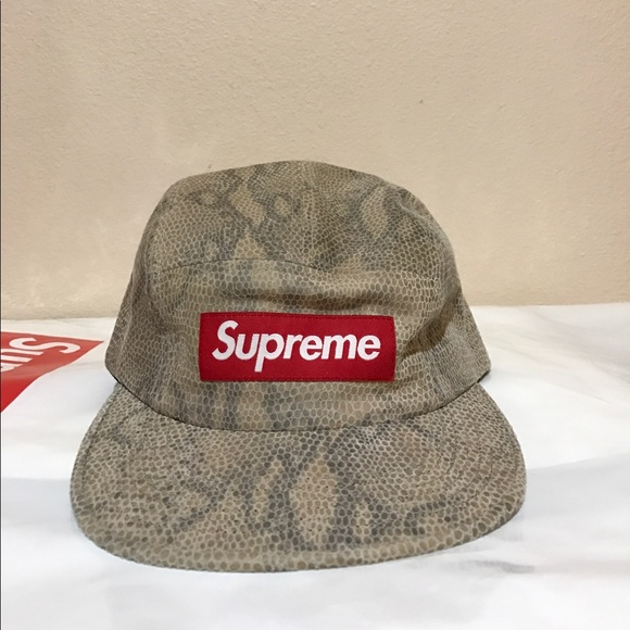 11745bbf1579b Supreme 5 panel Suede hat with snakeskin print. NWT. Supreme.  86  0. Size