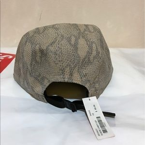 a4aef780ddf Supreme Accessories - Supreme 5 panel Suede hat with snakeskin print