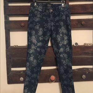 Rewash Denim - Flowered denim jeans
