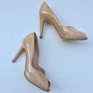 Nude Patent Leather Gianvito Rossi Heels 37.5