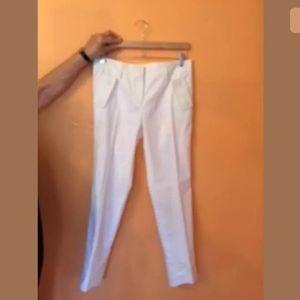 Anthropologie JAK & RAE White Wide Leg Pants Sz 6